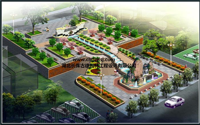 桂林小广场透视图